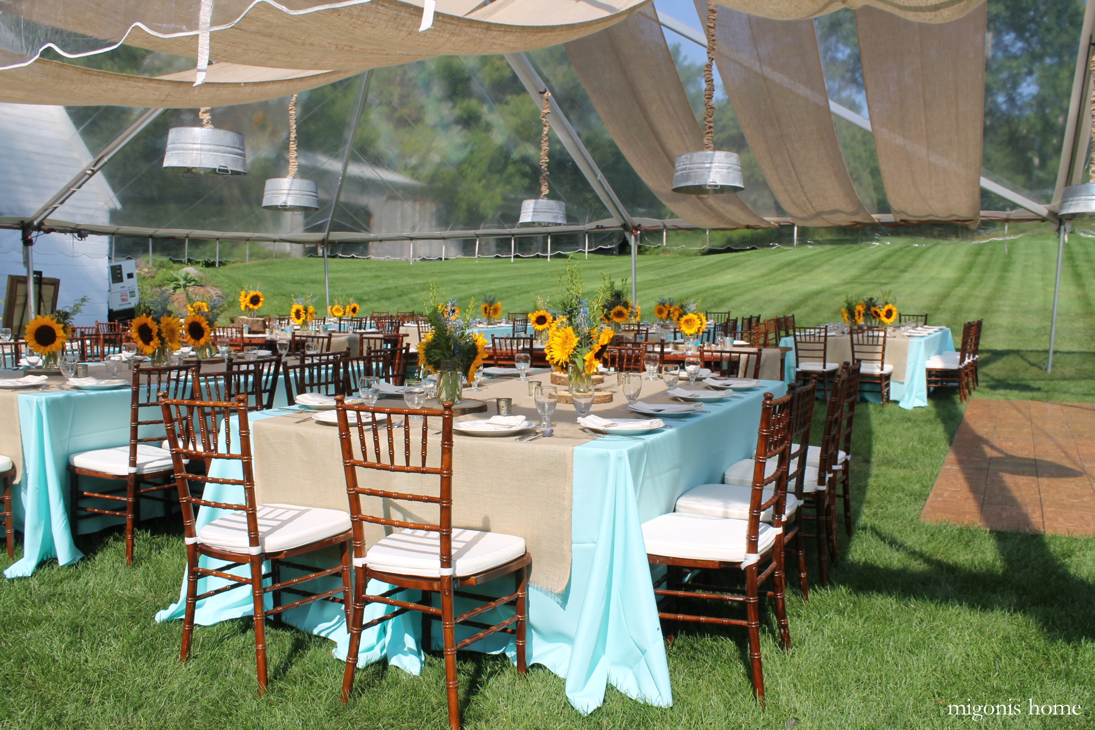 Sunflower And Burlap Wedding Reception Migonis Home