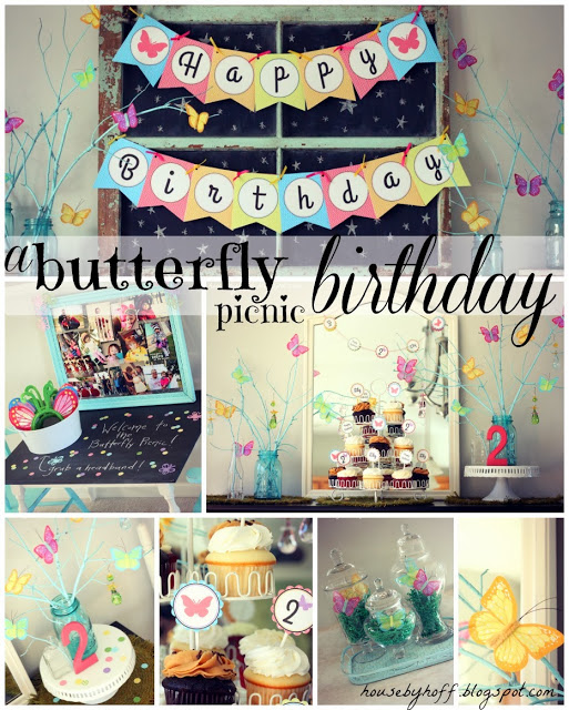 butterflypicnicbirthday collage