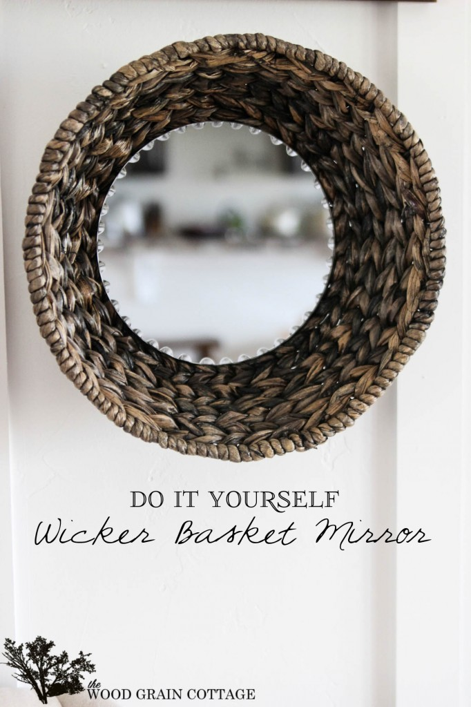 30 DIY Wicker Basket Mirror by The Wood Grain Cottage-5 copy
