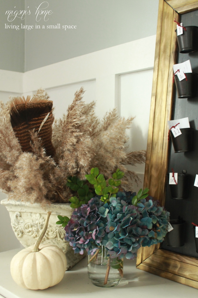 Fall arrangment with Turkey Feather