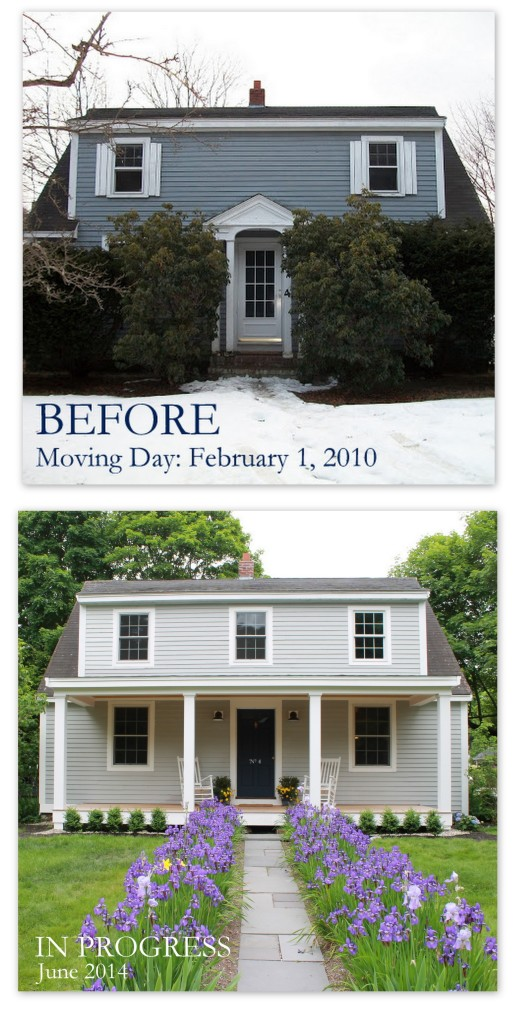 Before and After House collage